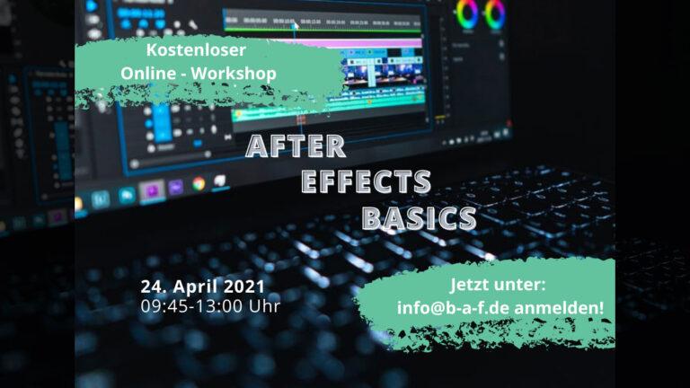 Kostenloser Workshop: After Effects Basics