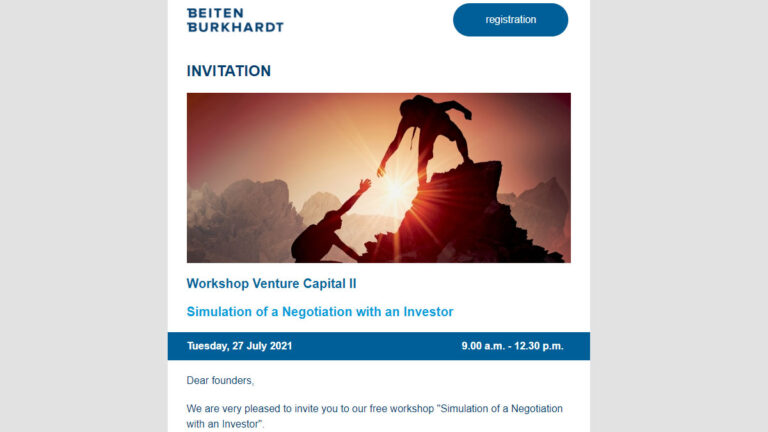 Workshop Venture Capital II – Simulation of a Negotiation with an Investor